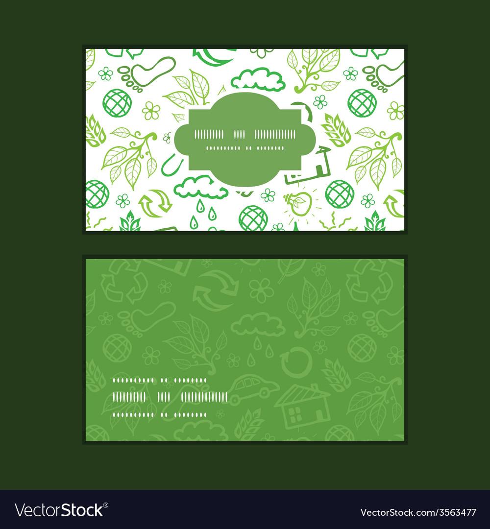Ecology symbols horizontal frame pattern business vector | Price: 1 Credit (USD $1)