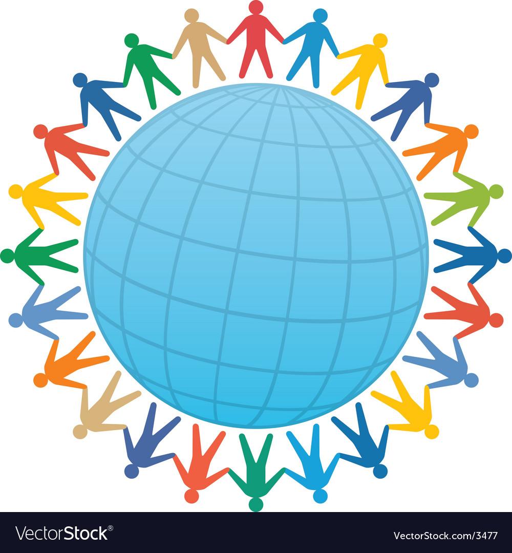 Global community vector | Price: 1 Credit (USD $1)