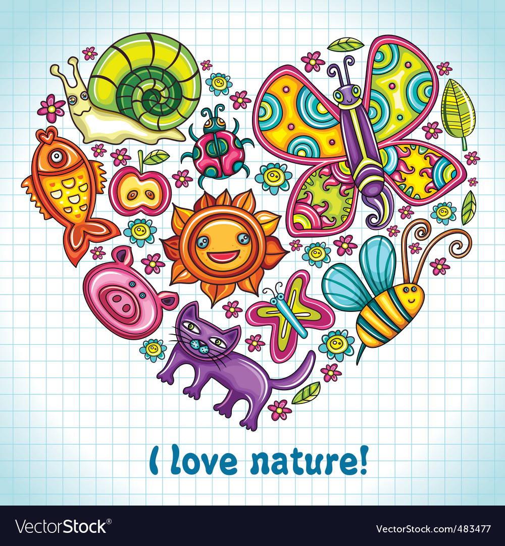 I love nature vector | Price: 3 Credit (USD $3)