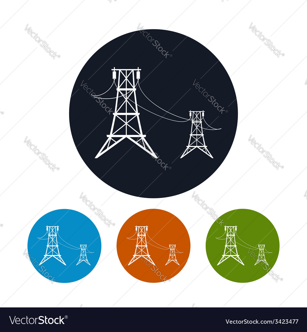 Icon high voltage power lines vector | Price: 1 Credit (USD $1)