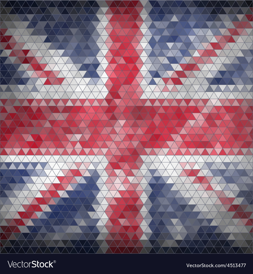 Mosaic british flag background - vector | Price: 1 Credit (USD $1)