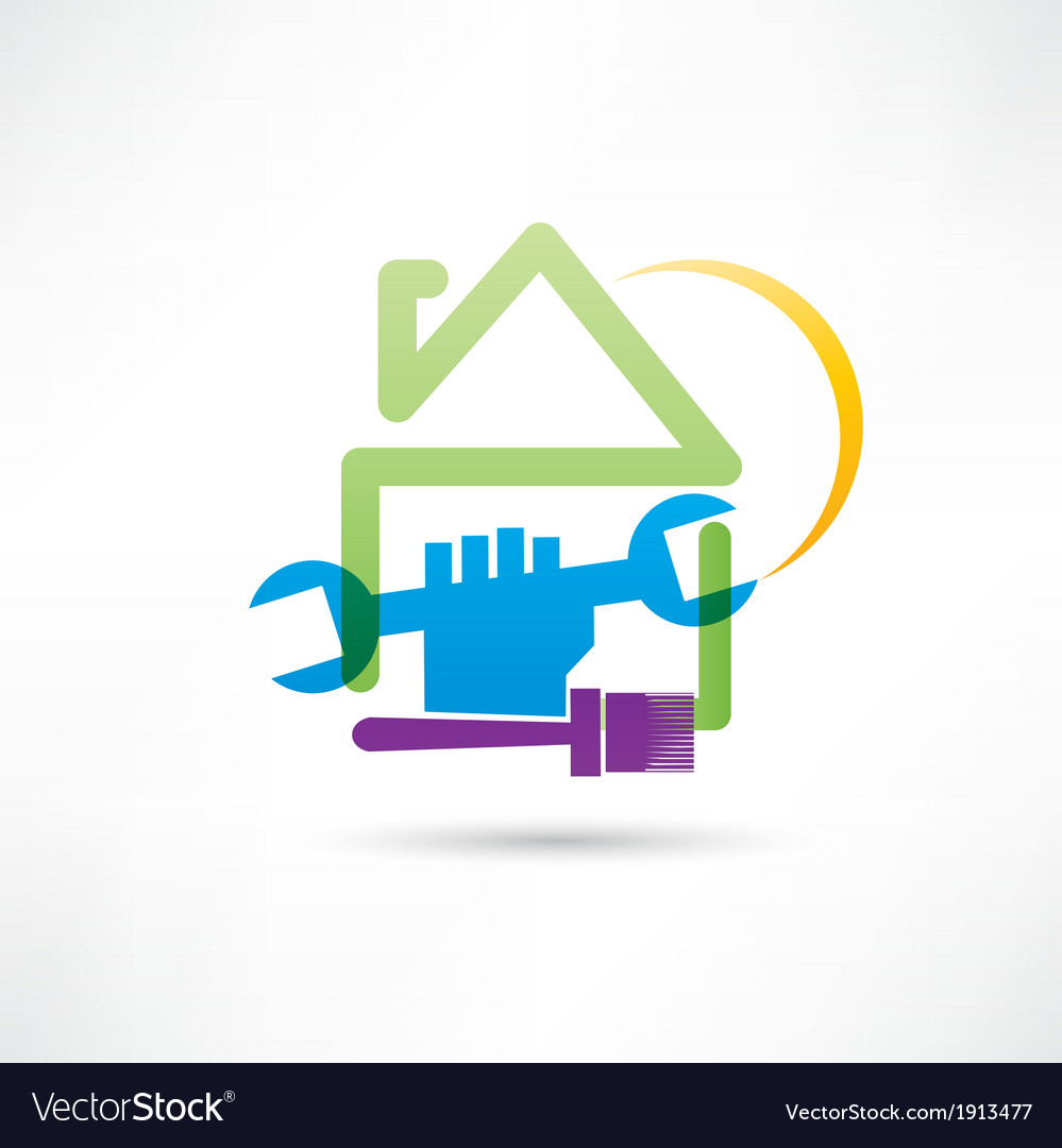 Plumbing house painting house icon vector | Price: 1 Credit (USD $1)