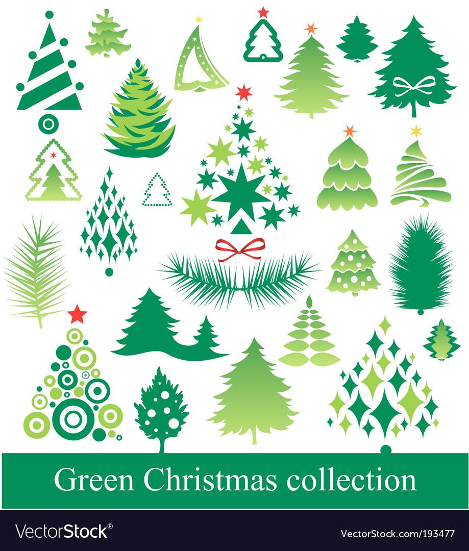 Set of christmas tree vector | Price: 1 Credit (USD $1)