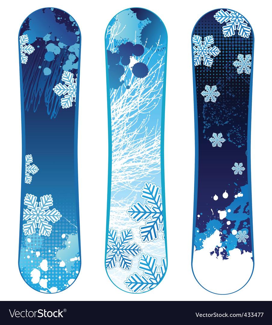 Snowboards vector | Price: 1 Credit (USD $1)