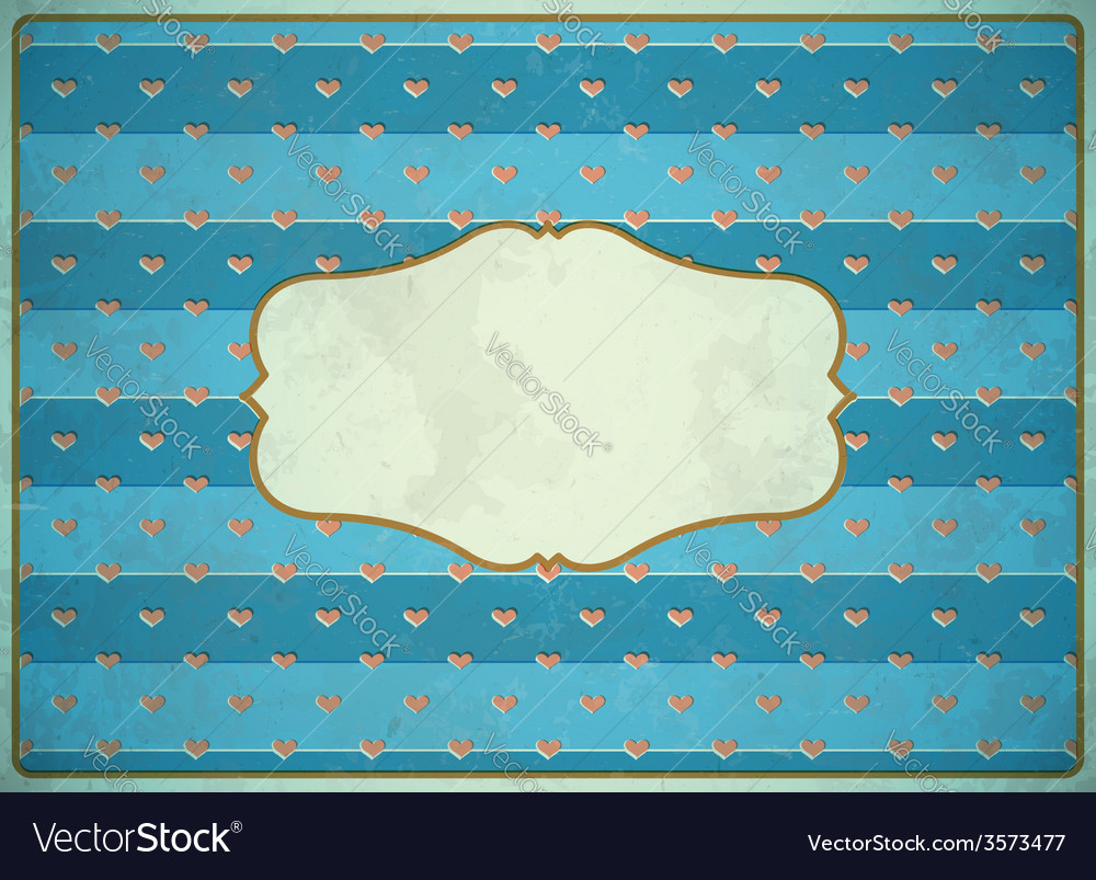 Vintage cardboard frame with hearts vector | Price: 1 Credit (USD $1)