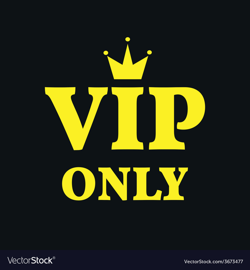 Vip only card gold on black background vector | Price: 1 Credit (USD $1)