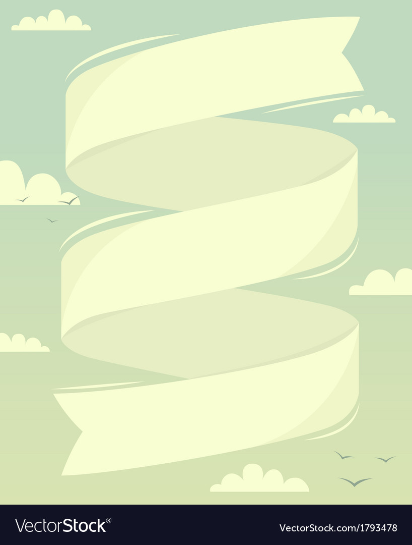 Banner in sky vector | Price: 1 Credit (USD $1)