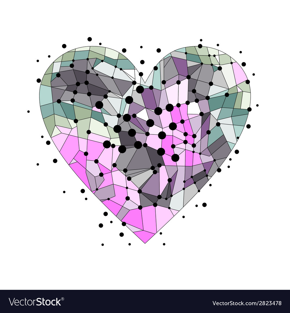 Broken heart on a white background vector | Price: 1 Credit (USD $1)