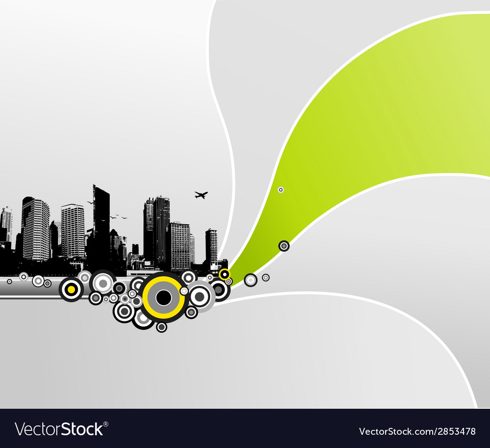City with abstract background vector | Price: 1 Credit (USD $1)