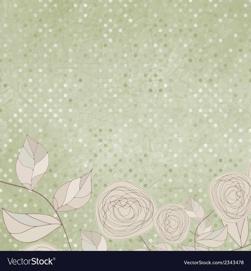 Floral backgrounds with vintage roses eps 8 vector | Price: 1 Credit (USD $1)