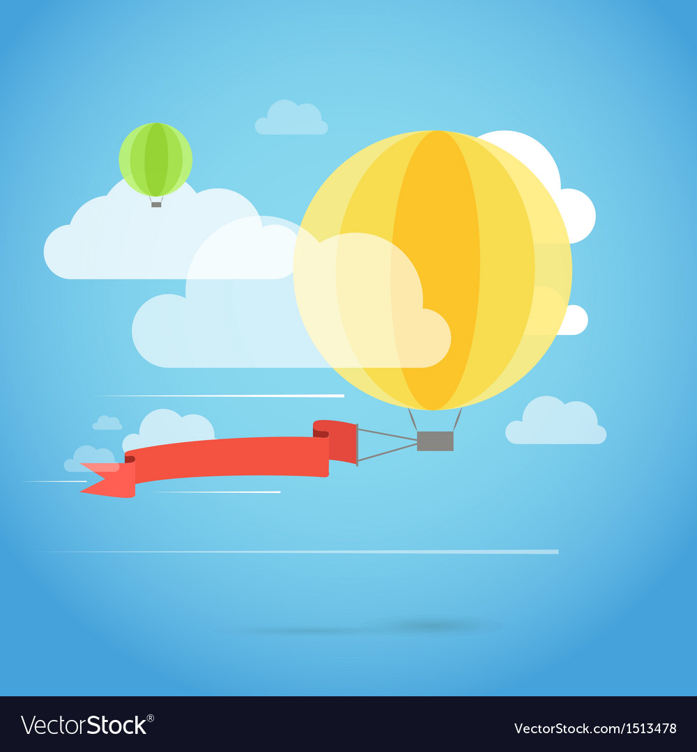 Flying ballon with the banner vector | Price: 1 Credit (USD $1)