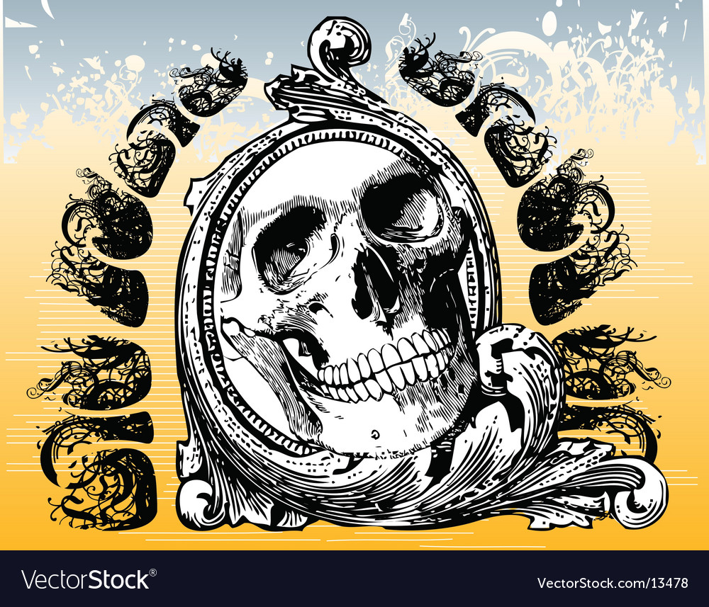 The grateful skull illustration vector | Price: 1 Credit (USD $1)