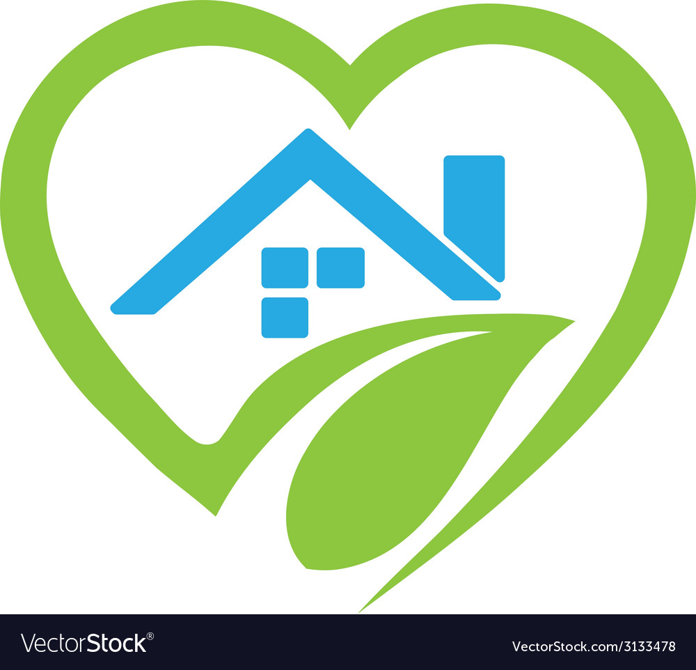 House in heart logo vector | Price: 1 Credit (USD $1)