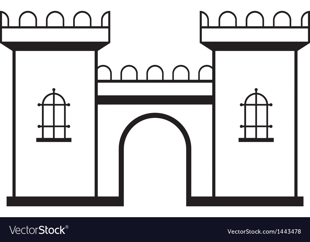 Icon castle vector | Price: 1 Credit (USD $1)