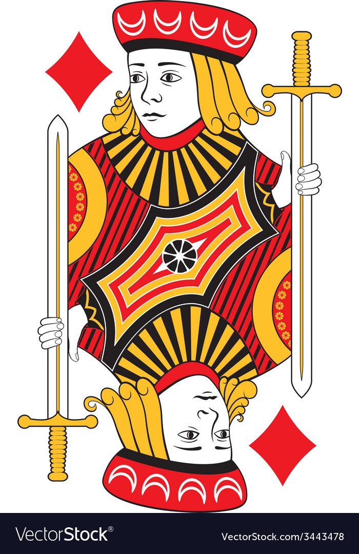 Jack of diamonds no card vector | Price: 1 Credit (USD $1)