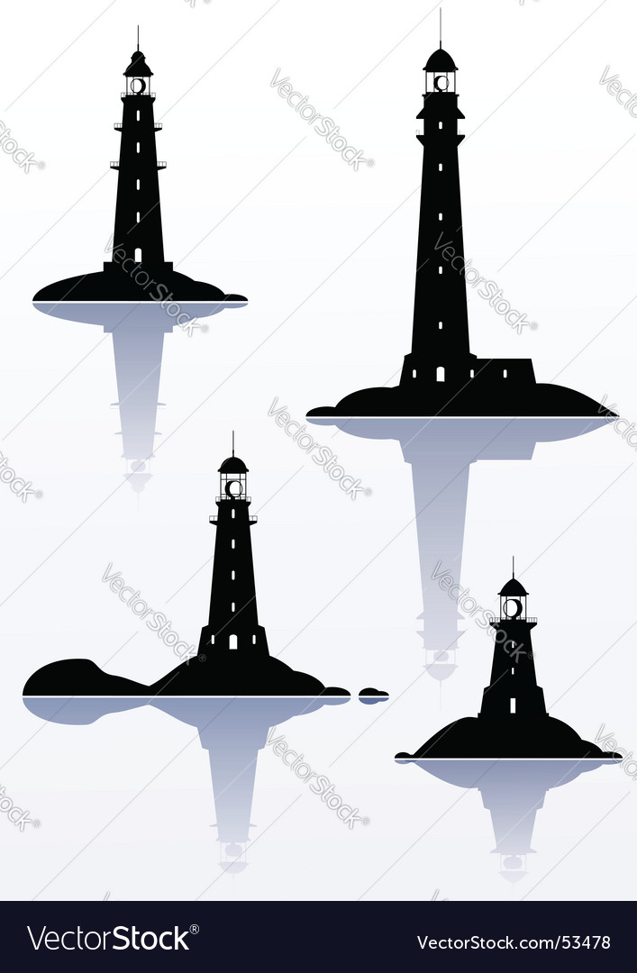 Lighthouses vector