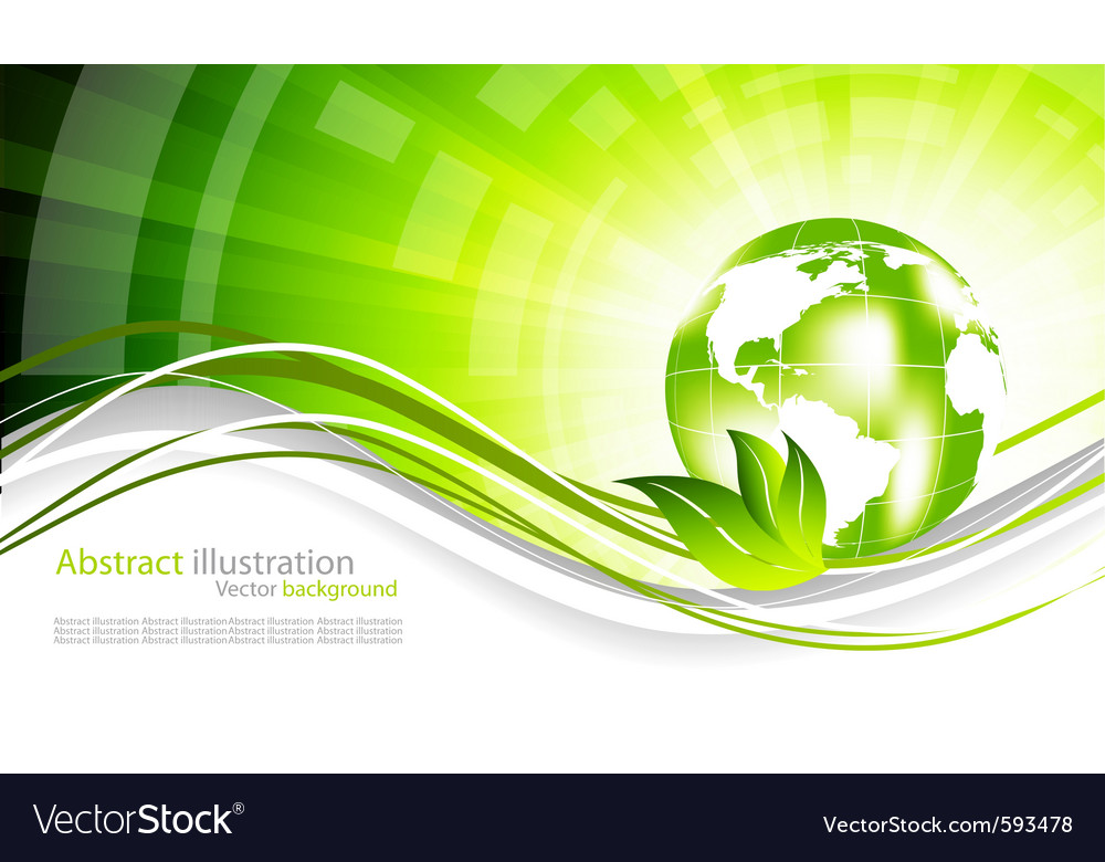 Modern ecology vector | Price: 1 Credit (USD $1)