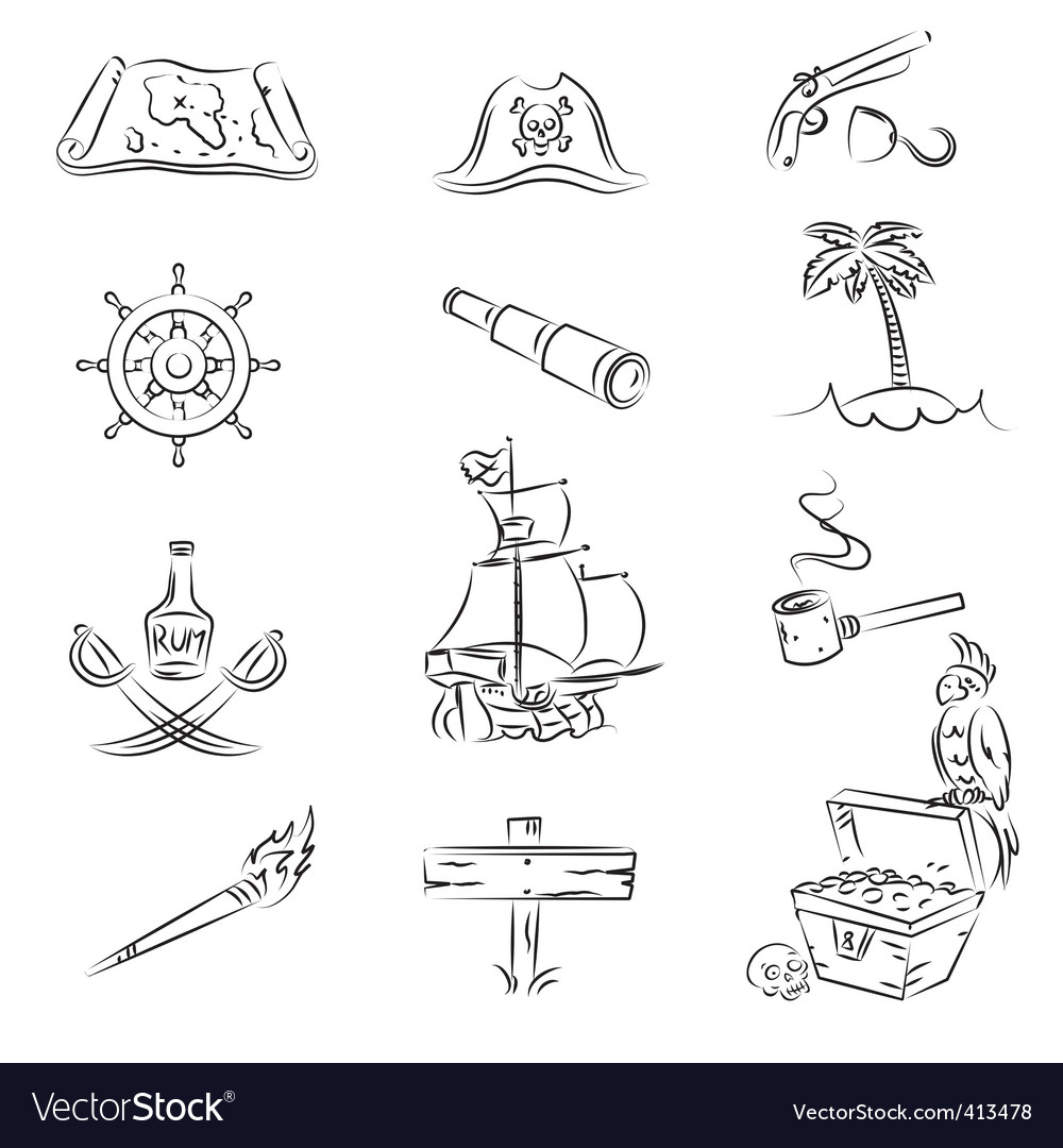 Pirates set vector | Price: 1 Credit (USD $1)