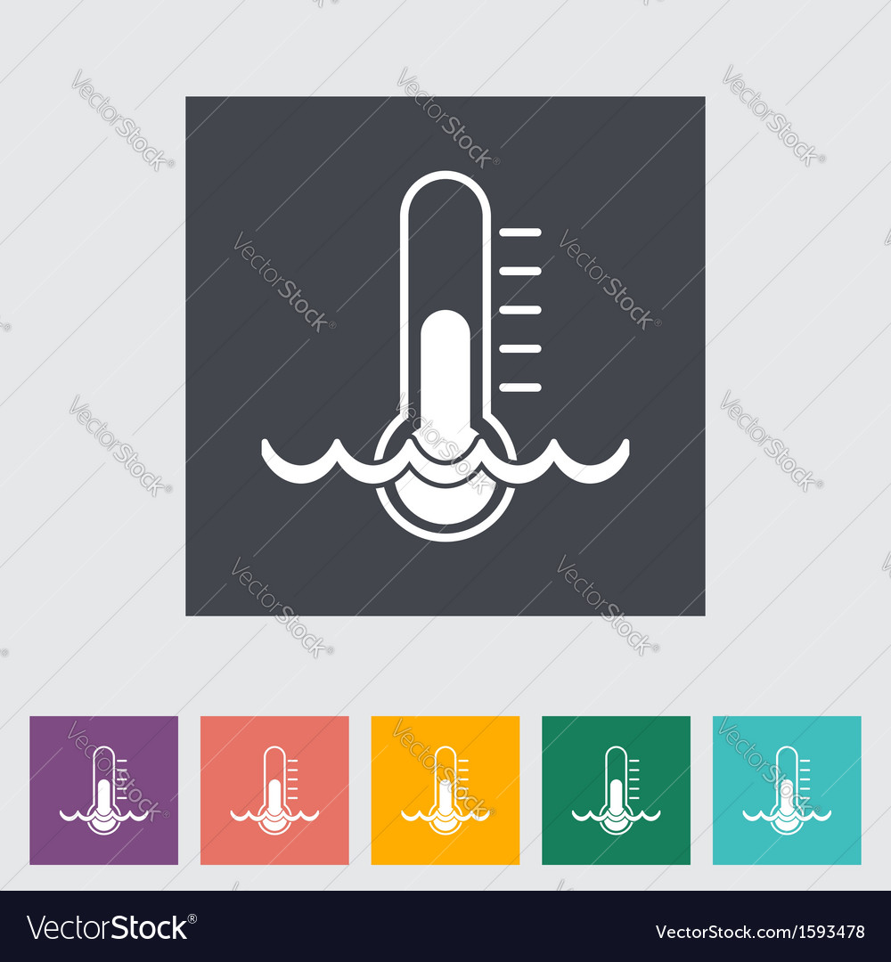 Water temperature vector | Price: 1 Credit (USD $1)