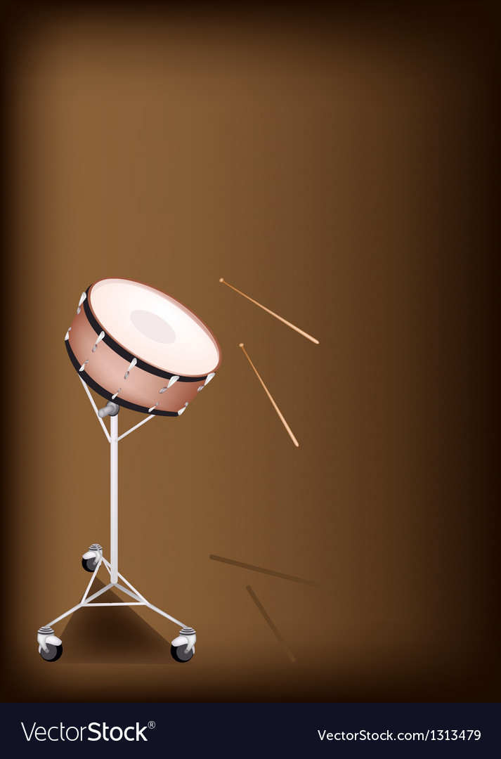 A beautiful snare drum on dark brown background vector | Price: 1 Credit (USD $1)