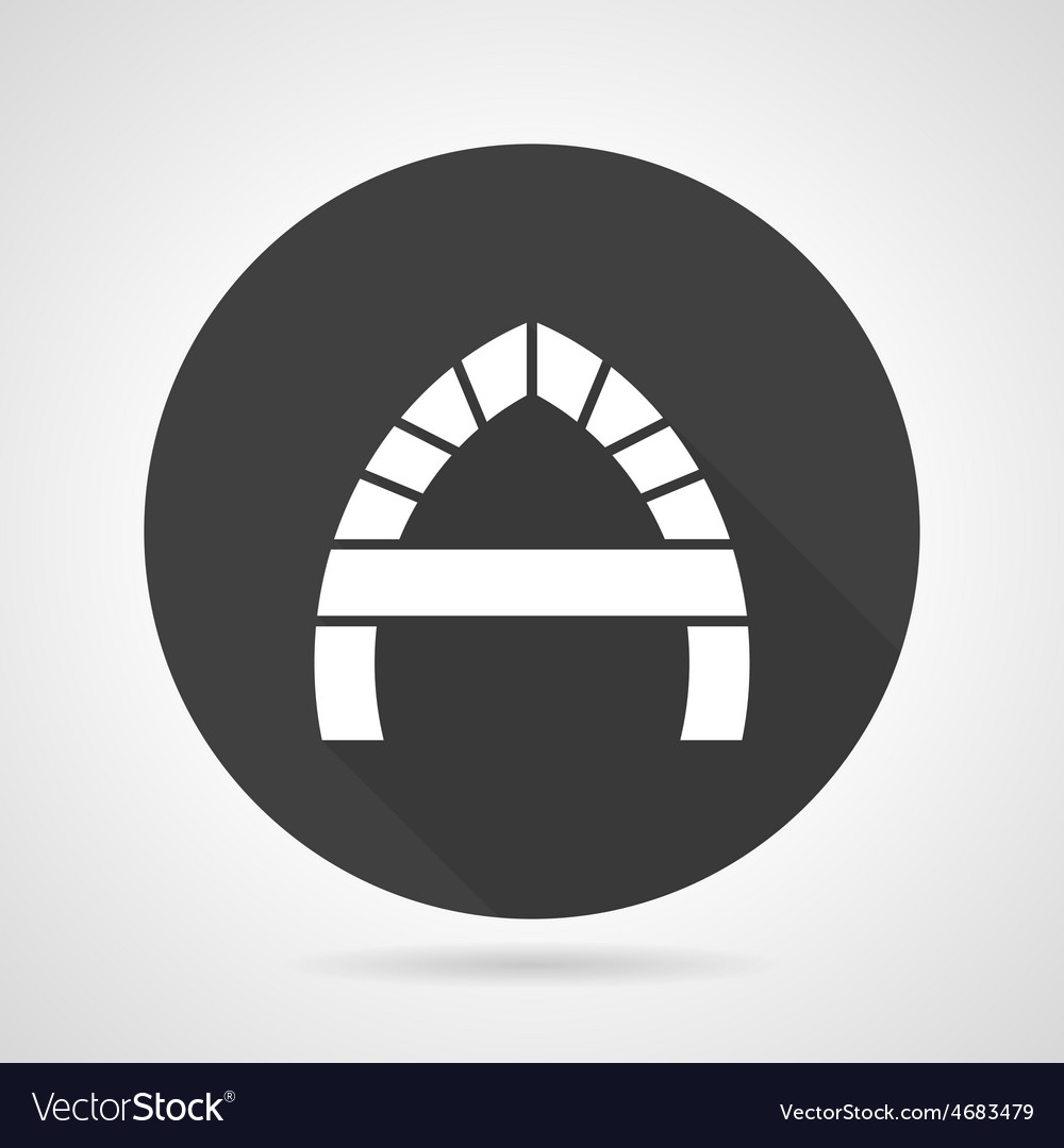 Arch with partition black round icon vector | Price: 1 Credit (USD $1)