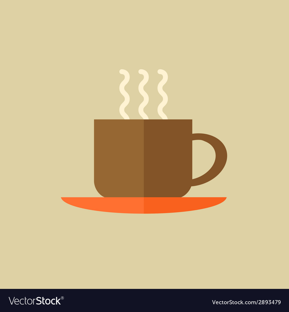 Coffee drink flat icon vector | Price: 1 Credit (USD $1)