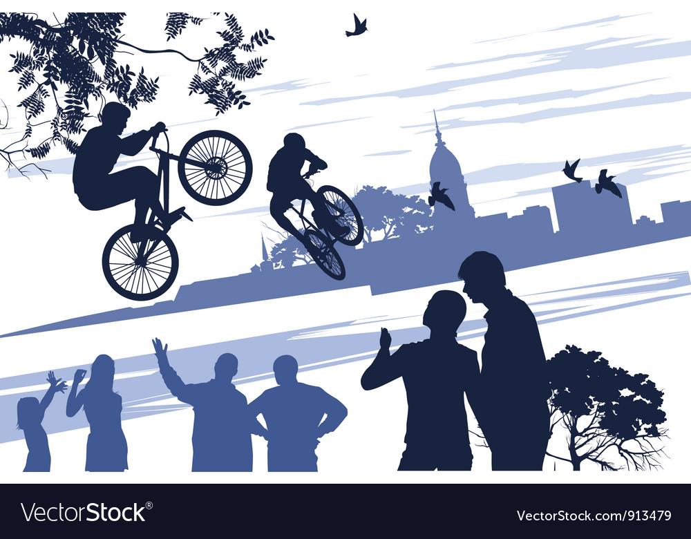 Extreme bikers vector | Price: 1 Credit (USD $1)