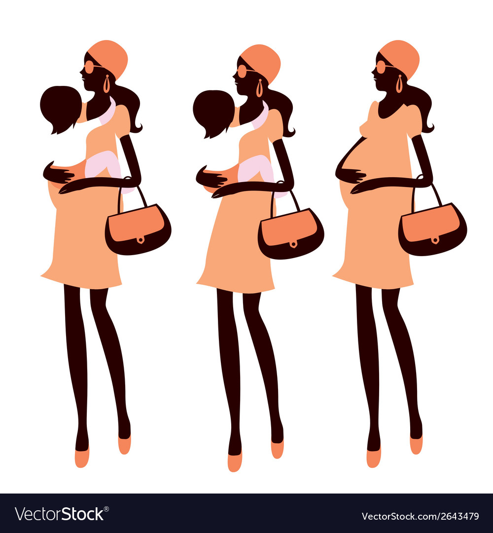 Fashionable pregnancy vector | Price: 1 Credit (USD $1)
