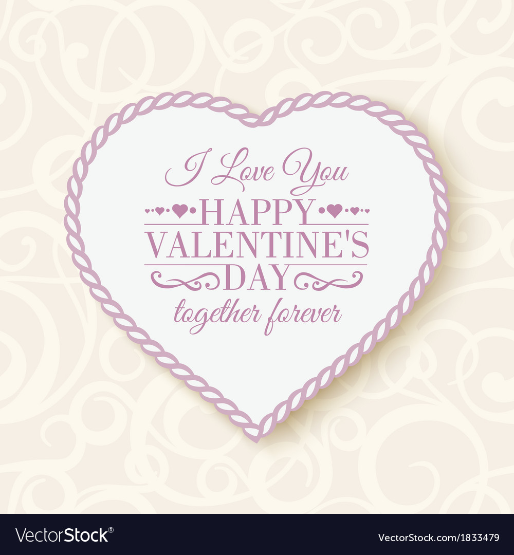 Happy valentines day - card vector | Price: 1 Credit (USD $1)