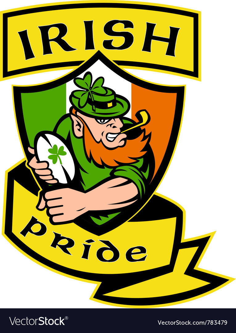 Irish rugby shield vector | Price: 1 Credit (USD $1)