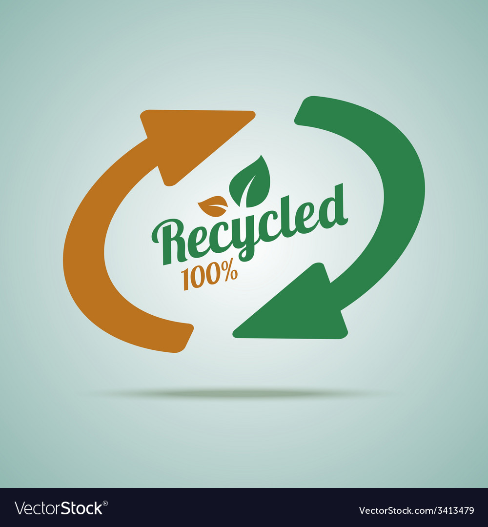 Recycled sign for organic products vector | Price: 1 Credit (USD $1)