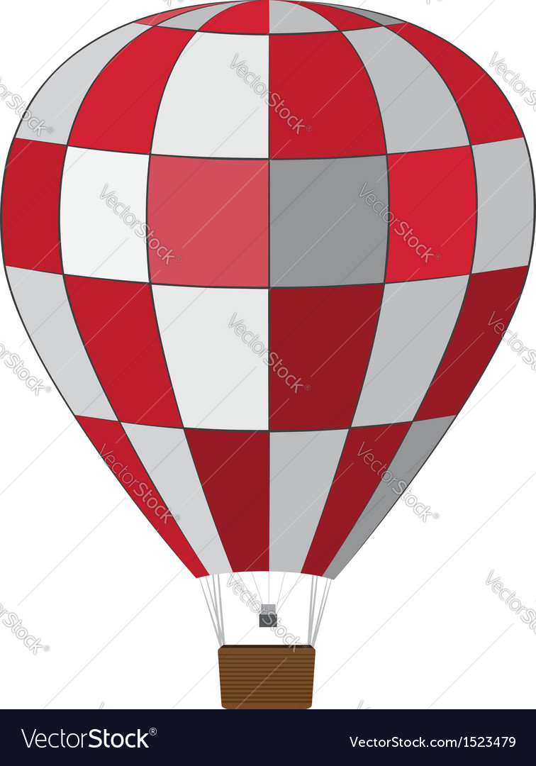Red white air balloon vector | Price: 1 Credit (USD $1)