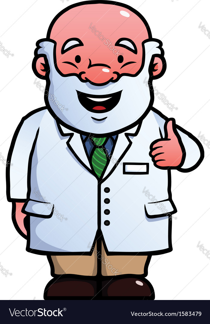 Scientist giving thumbs up vector | Price: 1 Credit (USD $1)
