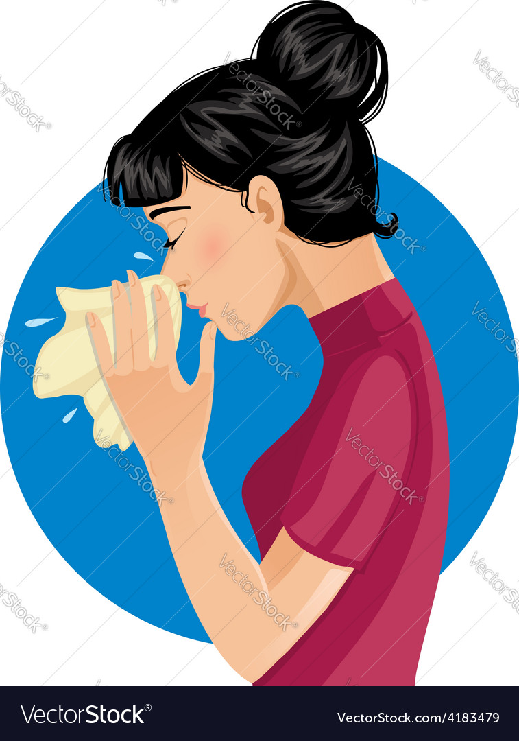 Sneezing woman eps10 vector | Price: 1 Credit (USD $1)