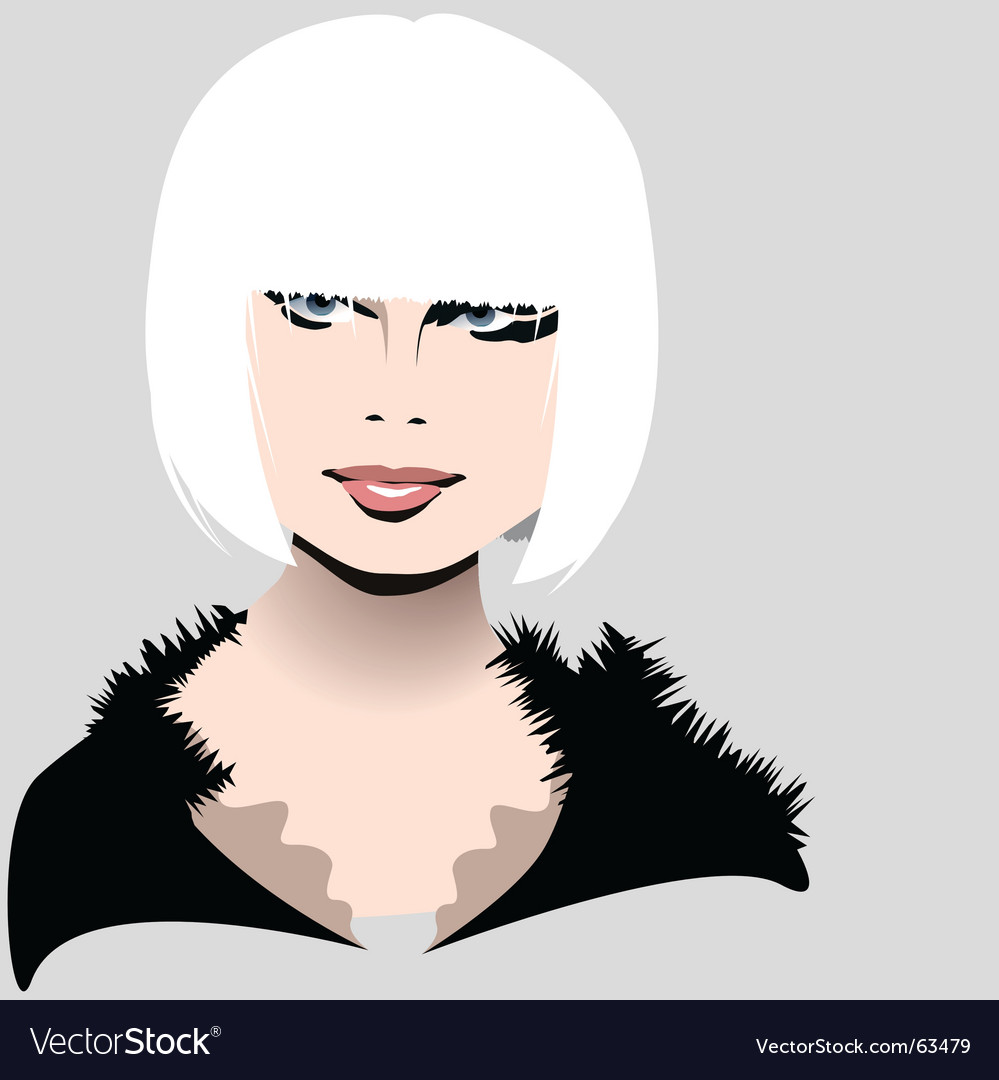 White hair vector | Price: 1 Credit (USD $1)