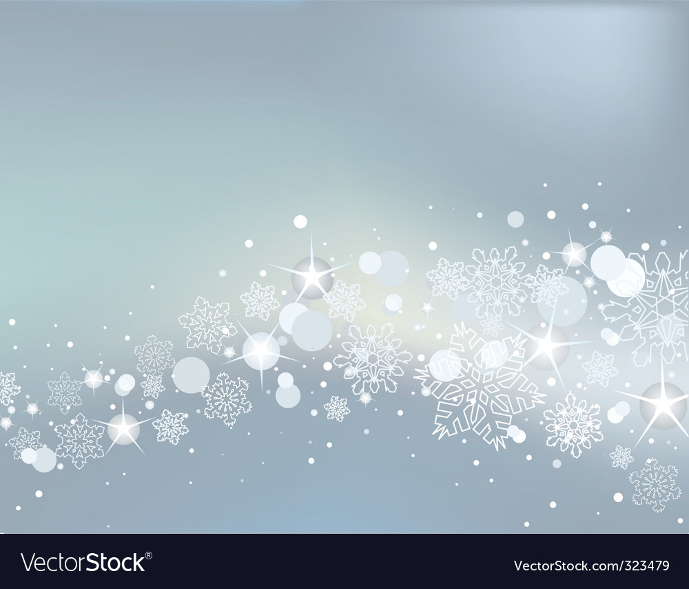 Winter background with white snowflakes vector | Price: 1 Credit (USD $1)