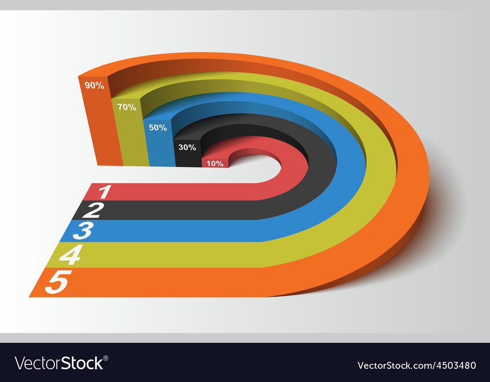 3d infographics element circle based competition vector | Price: 1 Credit (USD $1)