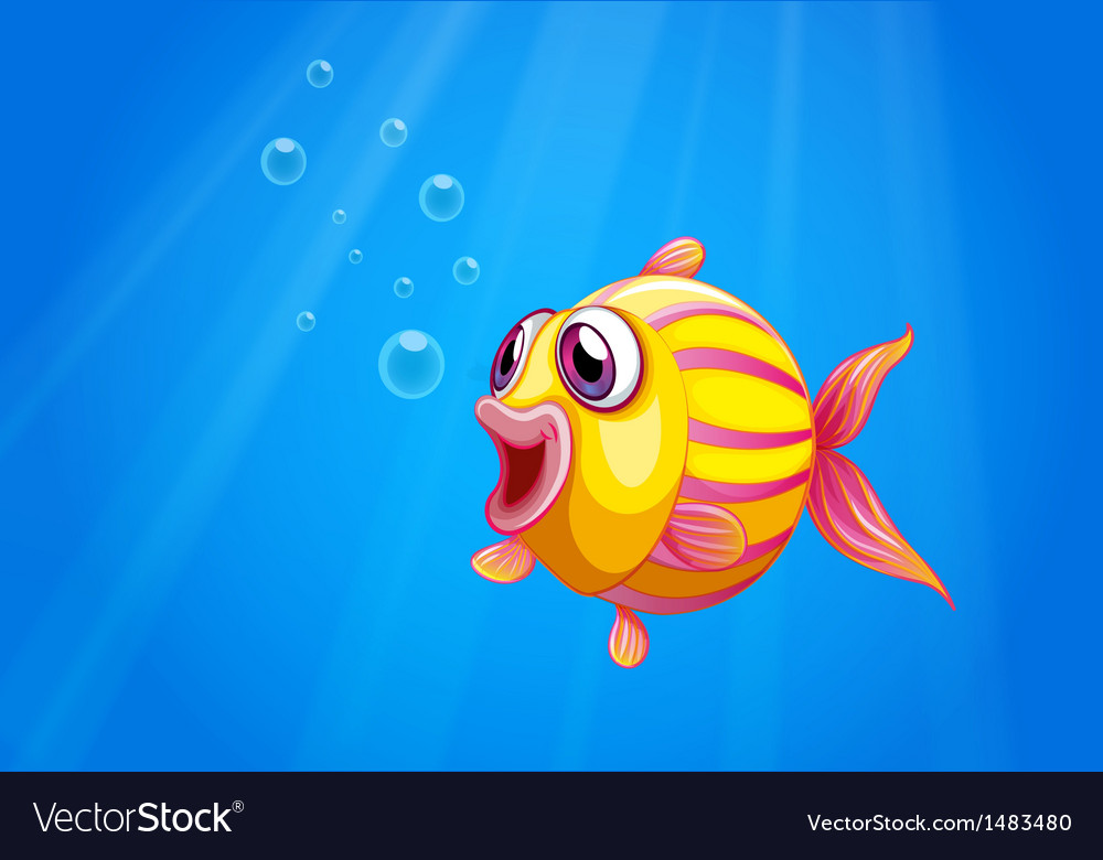 A colorful bubble fish under the sea vector | Price: 1 Credit (USD $1)