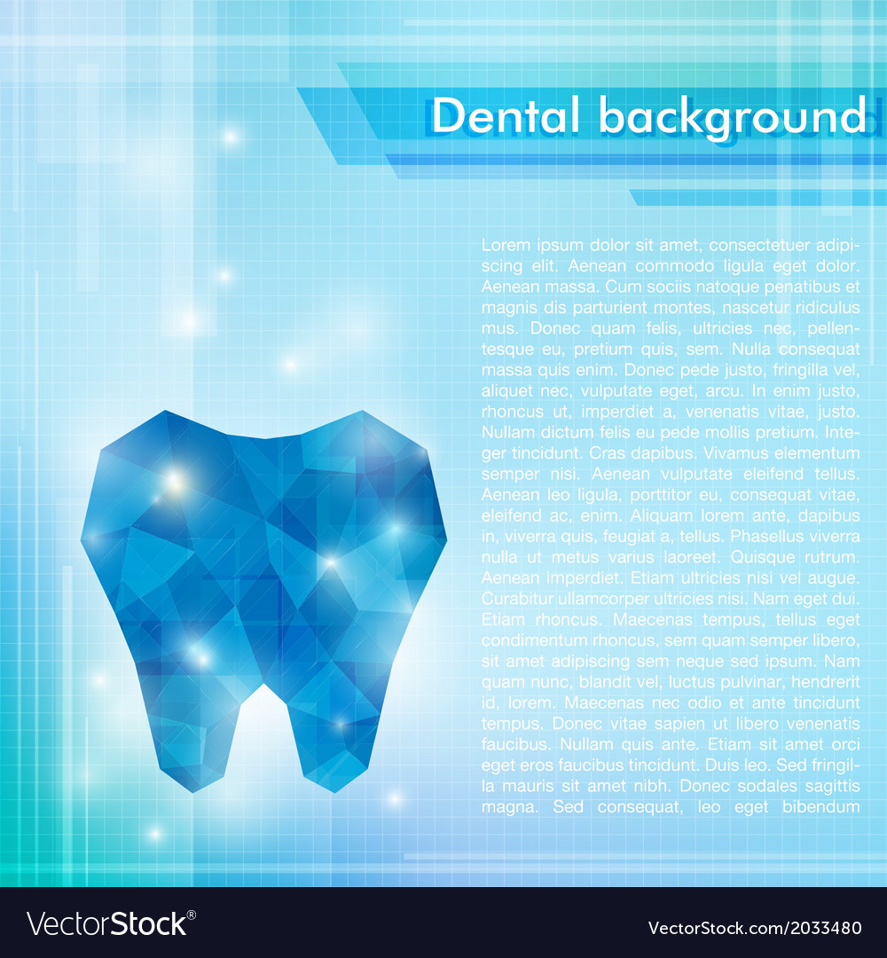 Abstract blue background with crystal tooth vector | Price: 1 Credit (USD $1)