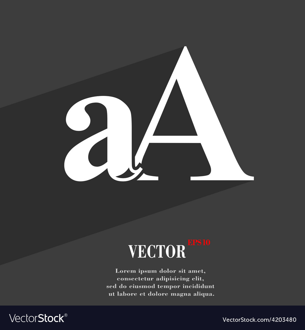 Enlarge font aa icon symbol flat modern web design vector | Price: 1 Credit (USD $1)
