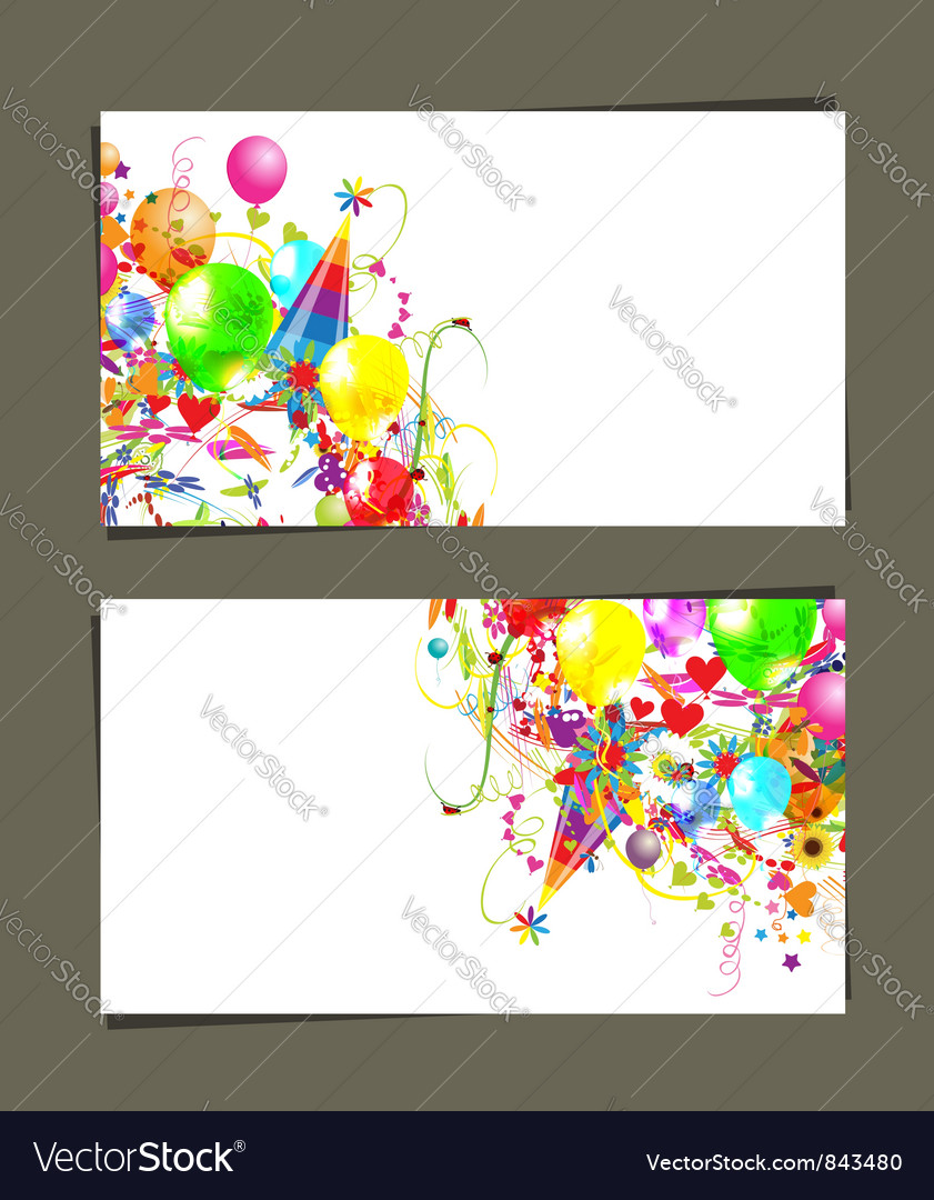 Gift card with place for your text vector | Price: 1 Credit (USD $1)