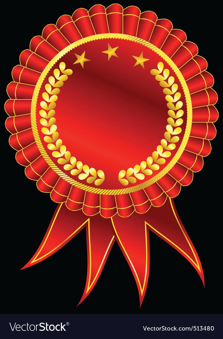 Golden award ribbon vector | Price: 1 Credit (USD $1)