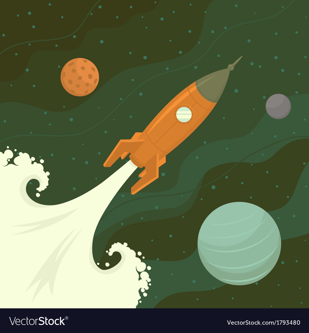 Launch of space rocket vector | Price: 1 Credit (USD $1)