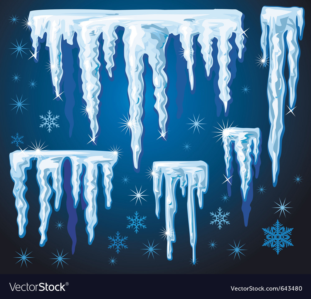 Set of icicles for design vector | Price: 1 Credit (USD $1)