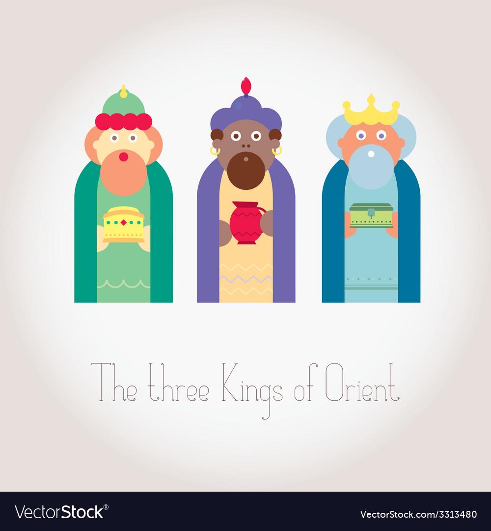 The three kings of orient wisemen vector | Price: 1 Credit (USD $1)