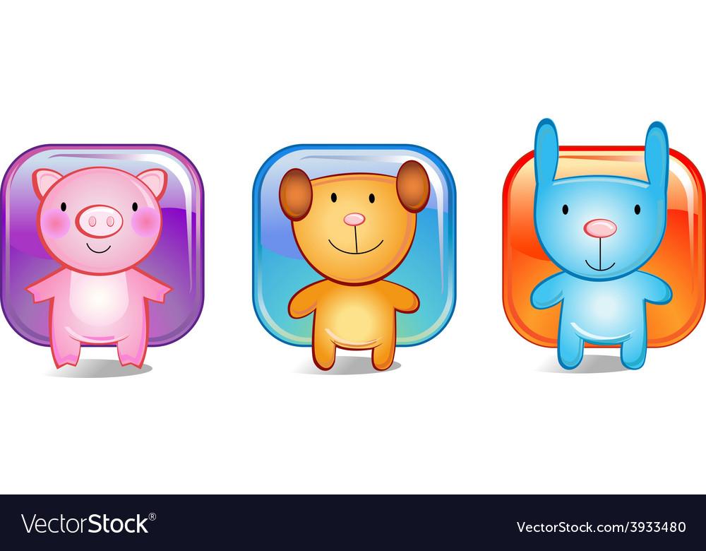 Toy animals vector | Price: 1 Credit (USD $1)
