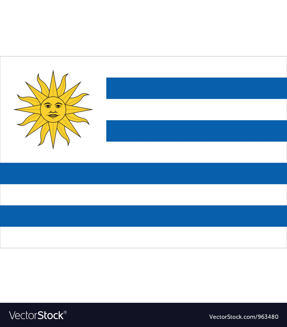 Uruguayan flag vector | Price: 1 Credit (USD $1)