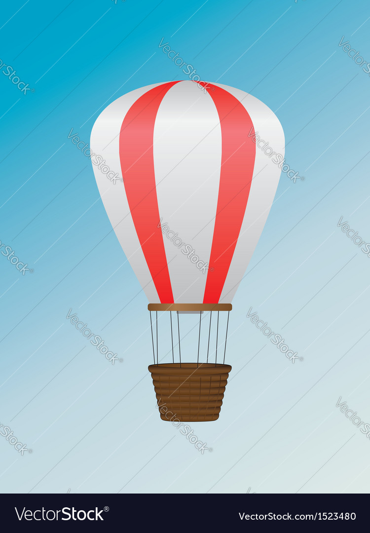 White red air balloon vector | Price: 1 Credit (USD $1)