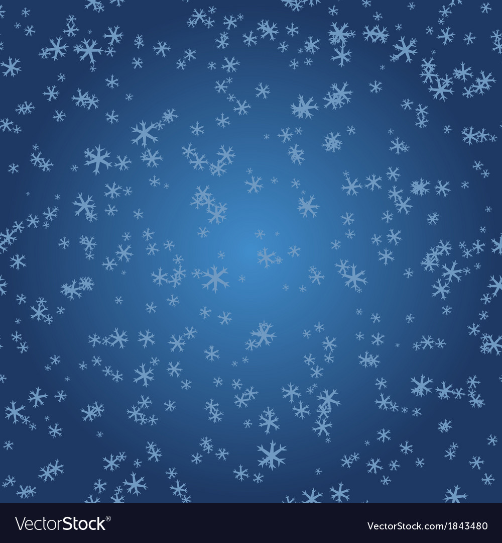 Winter pattern snowflakes on blue gradient vector | Price: 1 Credit (USD $1)