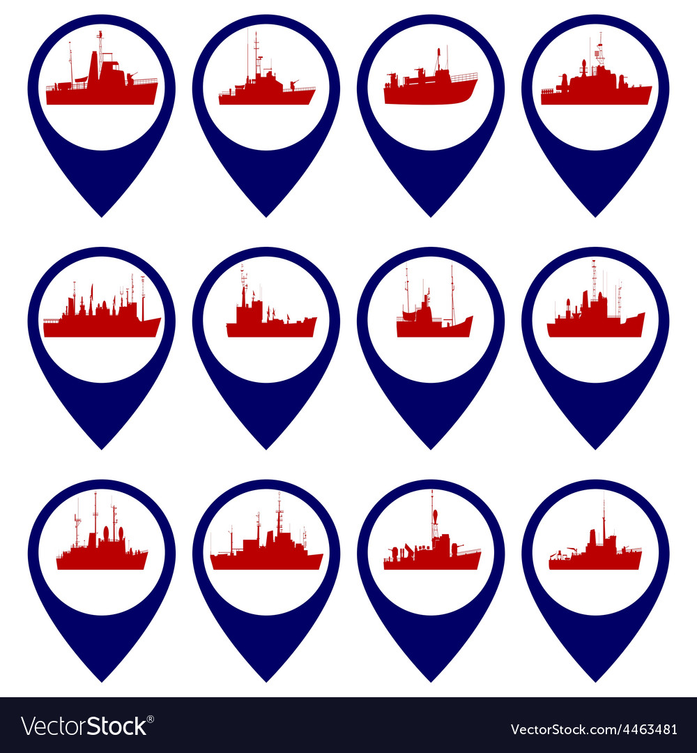 Badges with navy ships 3 vector | Price: 1 Credit (USD $1)